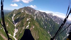 サナギ滝手前からの越後駒ヶ岳